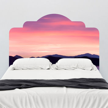 Paul Moore's Rocky Mountain Sunset Adhesive Headboard wall decal