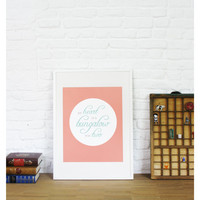 My Heart is a Bungalow for Two: Graphic Quote Poster // A2 Print
