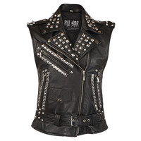 Studded Leather Vest [B] | KILLSTAR