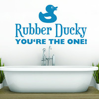 Wall Vinyl Sticker Decals Decor Art Bathroom Design Mural Rubber Ducky Sign Words Quote (z994)