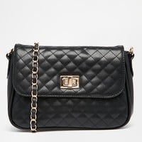 ASOS Quilted Lock Cross Body Bag at asos.com