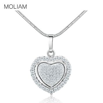 MOLIAM New Arrival Double Heart Love Pendant Necklace for Women a84b807d5
