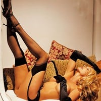 Shirley of Hollywood IS-SOH-90024 Sheer Thigh High Stockings