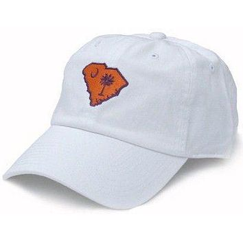 542c99abbf85e SC Clemson Gameday Hat in White by State Traditions