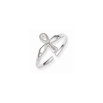 Sterling Silver Ankh (egyptian Cross) Toe Ring, Best Quality Free Gift Box Satisfaction Guaranteed