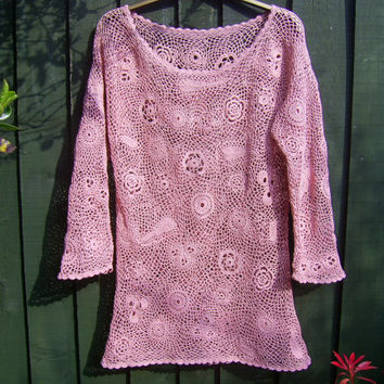 Irish Crocheted lace Tunic