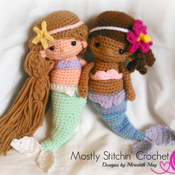 Mermaid Doll; CROCHET PATTERN; PDF
