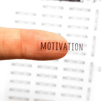 40 Motivation Stickers, Motivation Planner Stickers, Happy Planner Stickers, Clear Stickers, Transparent Stickers, ECLP | B117