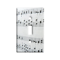 Music Musical Notes - Score Composition Light Switch Plate Cover