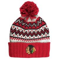 Women's Chicago Blackhawks CCM Red Cuffed Current Knit Hat