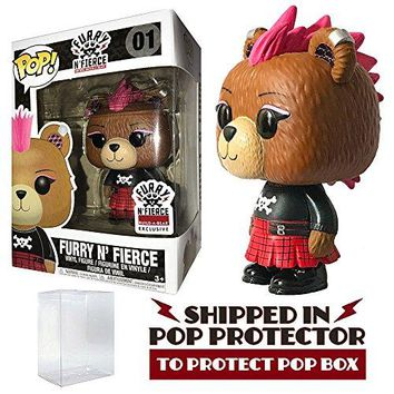 Funko Pop! Build-A-Bear Furry N' Fierce Exclusive Teddy Bear Vinyl Figure #1 with Protector Case