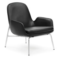 Era Low Lounge Chair with Metal Legs Black by Normann Copenhagen