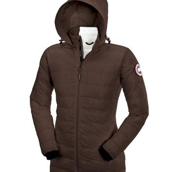 Canada goose Winter fashion to keep warm WOMEN Hooded long down jacket/XS-XL