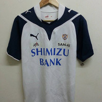 Sale Rare Puma Jal Shimizu S-Pulse Bank Football Japan Jersey Shirt