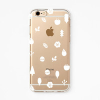 iPhone Rubber Case - Makitoy Nature- iPhone 6s case, iPhone 6 case, iPhone 6s+ case, iPhone 6+ case - Clear Flexible Rubber TPU case IC12