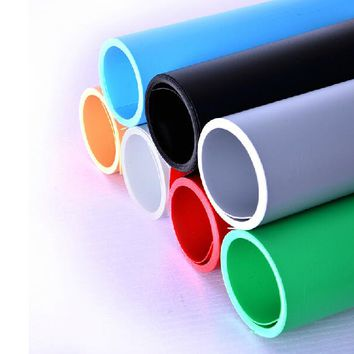 2PCS 60*125CM Solid Color PVC Background Paper Scrub Photography Backdrop Paper No Reflection 6 Colors