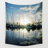 mirrored marina Wall Tapestry by RichCaspian