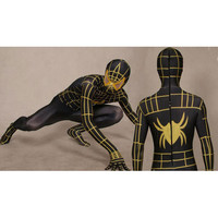 Lycra Spandex Black Spiderman Costume with Red Stripes Full Body [TWL110916013] - $36.99 : Zentai, Sexy Lingerie, Zentai Suit, Chemise