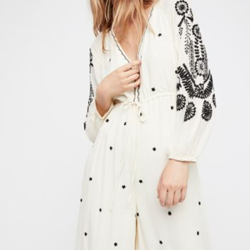 Embroidered V Jumpsuit by Free People