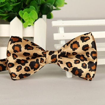 2016 Fashion Men's Bow Tie Polyester Five Star &leopard Bow Tie Wedding Party Butterfly Ties #1536 SM6