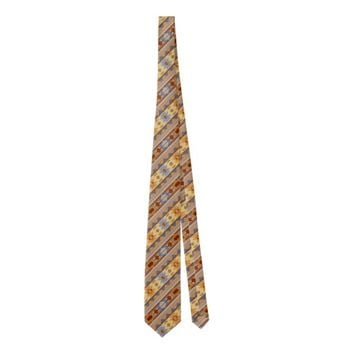 Southwest Design Rust Gray Gold Tie