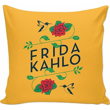 Frida Kahlo Birds & Roses Couch Pillow