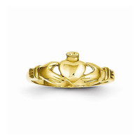 14kt baby yellow gold claddagh ring