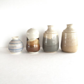 Instant Studio Pottery Vase Collection, Vintage Pottery Weed Pot Collection