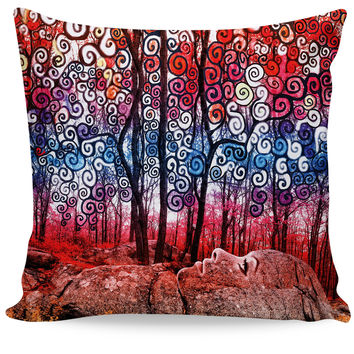 Scribble Forest Couch Pillow