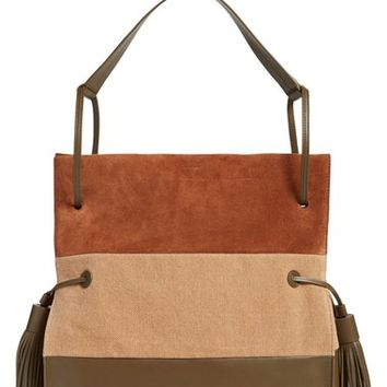 ALLSAINTS 'Liberty' Colorblock Leather Hobo | Nordstrom