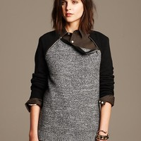 Marled Extra Fine Merino Wool Zip Pullover