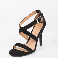 Criss Cross Strappy Heels - 6
