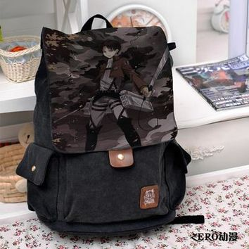 Anime Backpack School kawaii cute Attack on Titan Cosplay Backpack Fashion casual large capacity Bags For Men Women School Bags AT_60_4