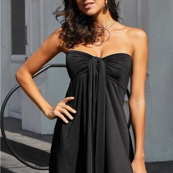 Black Convertible Beach Dress/Skirt
