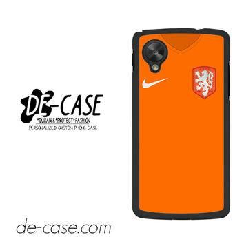 Holland Soccer Jersey For Google Nexus 5 Case Phone Case Gift Present YO