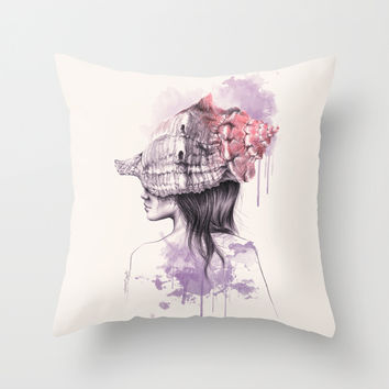 Inside my shell Throw Pillow by EDrawings38