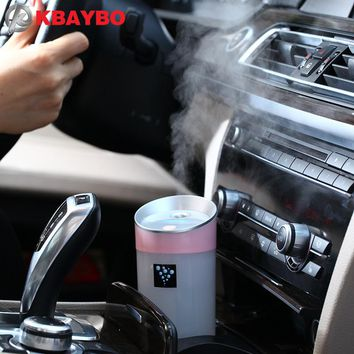 Car humidifier USB Aromatherapy diffuser essential oil diffuser air Ultrasonic humidifier air Aroma diffuser mist maker 300ML
