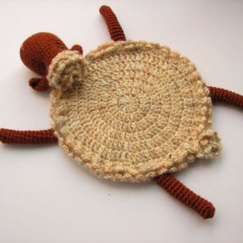 animal coaster Cozy Sheep crochet amigurumi