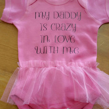 Infant tutu Creeper- daddy's girl- bodysuit- tutu- sleeper- toddler clothing- infant clothing