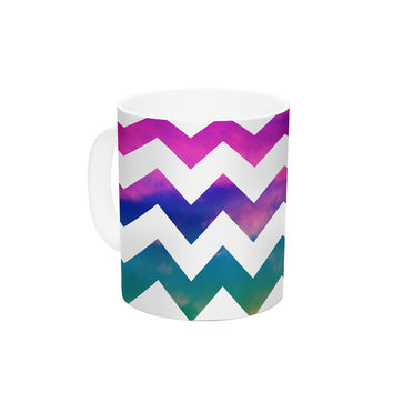 "Beth Engel ""Lucky Chevron"" Ceramic Coffee Mug"