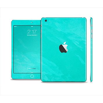 The Subtle Neon Turquoise Surface Full Body Skin Set for the Apple iPad Mini 2
