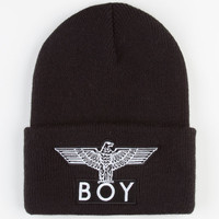 Boy London Mens Cuffed Beanie Black One Size For Men 23981910001