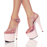 Platform - Mid (Pleaser USA): C Stage 708pd (baby Pink).