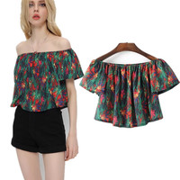 Summer Stylish Print Pullover Tops Women's Fashion Shirt [11629962511]