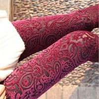 Lace Leggings for Women(1121F)