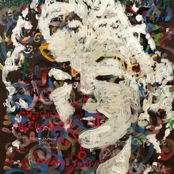 Marilyn Monroe Art Pop Art Painting Original Abstract Painting 16x20 Wood Art Wall Art Sexy Art January Gifts for Her Valentines Day