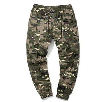 ICIKON3 hee grand men casual cargo pants 100% cotton breathable material camouflage slim cuff pants size m 5xl mkx1351