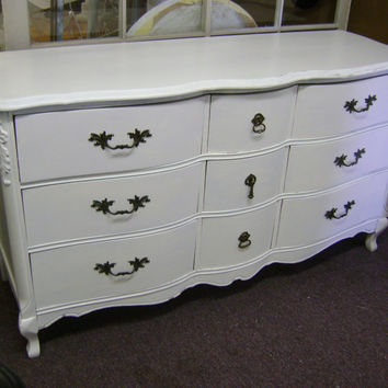 Furniture: Elegant Furniture For Vintage Bedroom Decoration Using White French Provincial Dressers Including Queen Anne Dresser Legs And Black Metal Drawer Knobs. French Provincial Furniture Australia, French Provincial Style Furniture, French Country Bedr