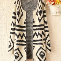 Geometric Fashion cardigan