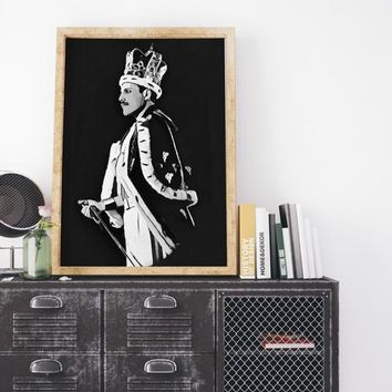 Freddie Mercury Poster The Queen Painting Print
